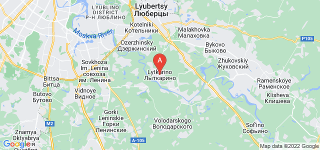 map of Lytkarino, Russia